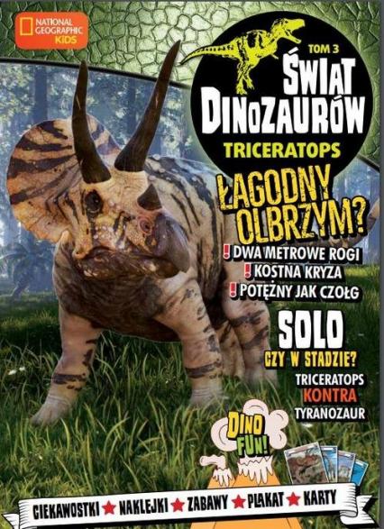 Świat Dinozaurów 3 Triceratops -  | okładka