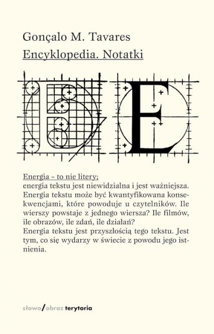 Encyklopedia Notatki - Tavares Gonçalo M.   okładka