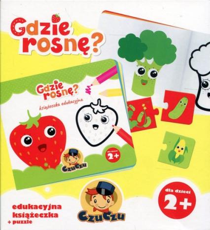 CzuCzu Gdzie rosnę? Edukacyjna książeczka + puzzle -  | okładka