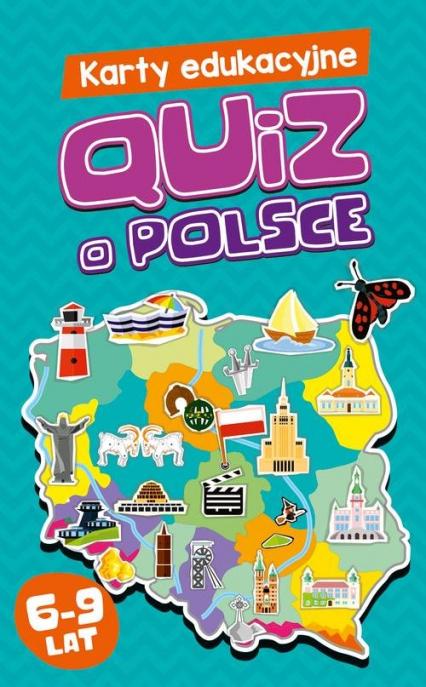 Karty edukacyjne Quiz o Polsce - Maria Majewska   okładka