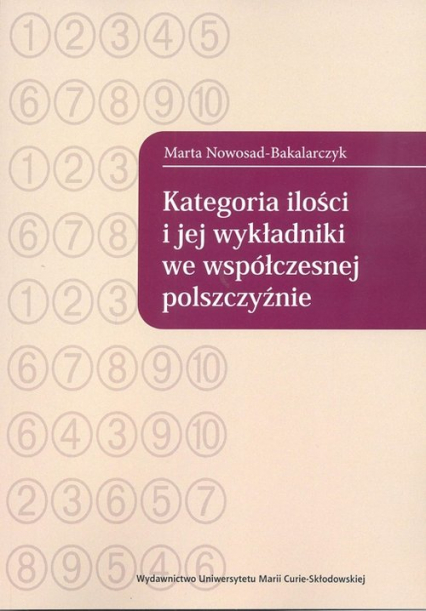 Kategoria ilości i jej wykładniki we współczesnej polszczyźnie - Marta Nowosad-Bakalarczyk   okładka