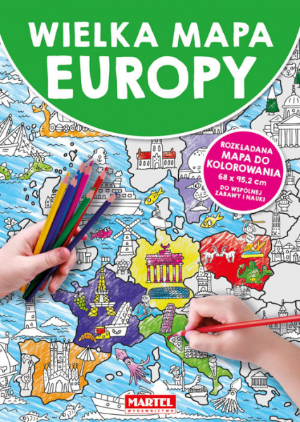 Wielka mapa Europy -  | okładka