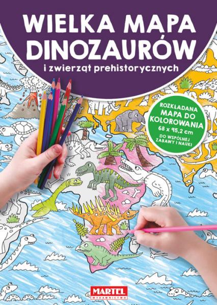 Mapa Dinozaury i zwierzęta prehistoryczne -  | okładka