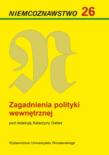 Zagadnienia polityki wewnętrznej -  | okładka