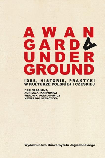 Awangarda Underground Idee, historie, praktyki w kulturze polskiej i czeskiej -    okładka