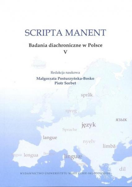 Scripta manent Badania diachroniczne w Polsce V -    okładka