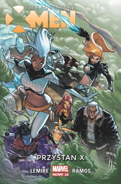 Extraordinary X-Men Tom 1 Przystań X - Jeff Lemire | okładka