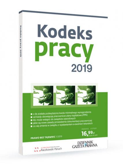 Kodeks pracy 2019 - Paruch Sławoimir, Stępień Robert, Nicińska Ag | okładka