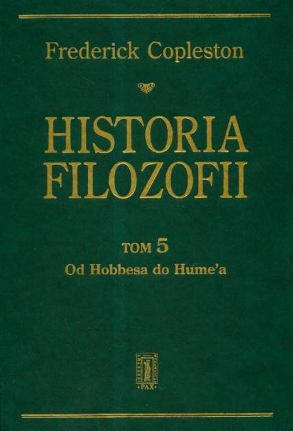 Historia filozofii Tom 5 - Frederick Copleston | okładka