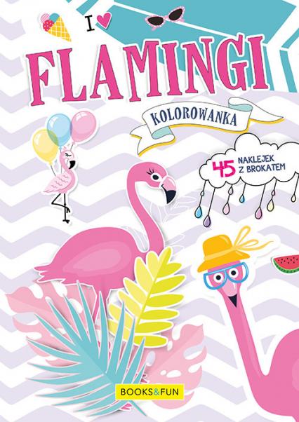 Kolorowanka Flamingi z naklejkami -  | okładka