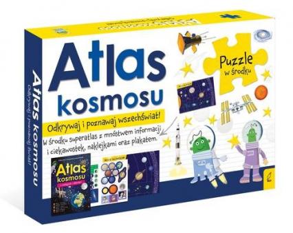 Pakiet Atlas kosmosu: Atlas w zestawie z mapą i puzzlami -    okładka