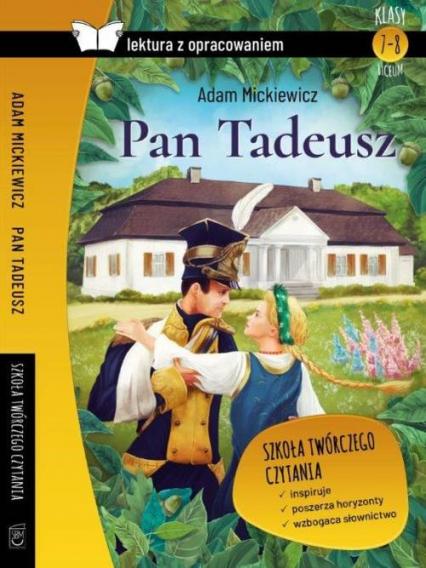 Pan Tadeusz Lektura z opracowaniem - Adam Mickiewicz | okładka