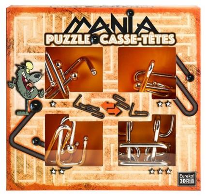 Łamigłowki metalowe 4 sztuki Puzzle-mania zestaw pomarańczowy -  | okładka