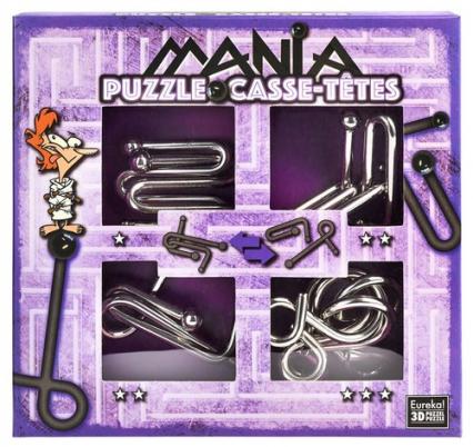 Łamigłowki metalowe 4 sztuki Puzzle-mania zestaw fioletowy -  | okładka