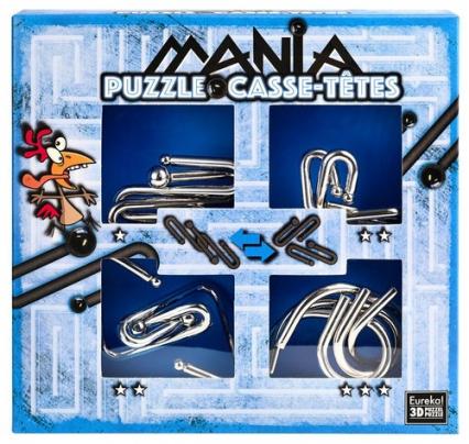 Łamigłowki metalowe 4 sztuki Puzzle-mania zestaw niebieski -  | okładka
