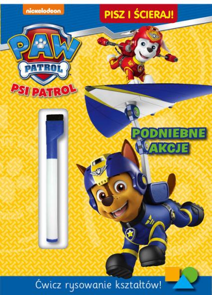 Psi Patrol Pisz i ścieraj Podniebne akcje -  | okładka