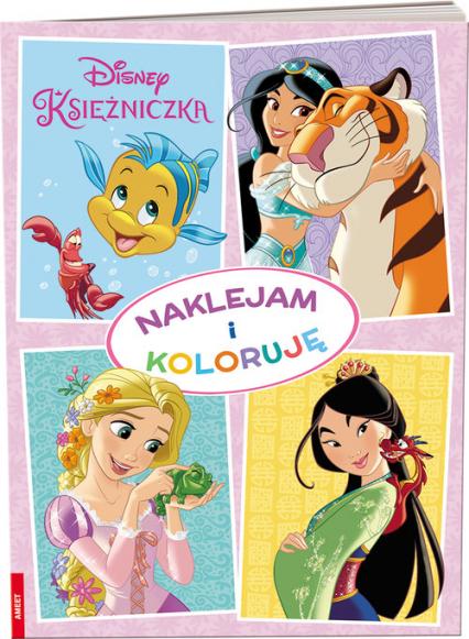 Disney Księżniczka Naklejam i koloruję -  | okładka