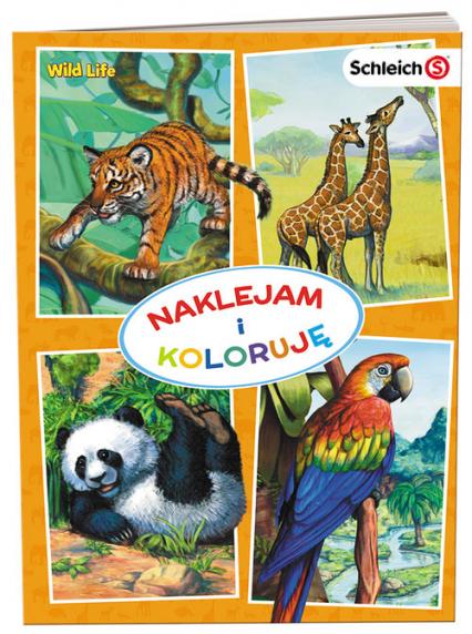 Schleich Wild Life Naklejam i koloruję NAK-8101 -  | okładka