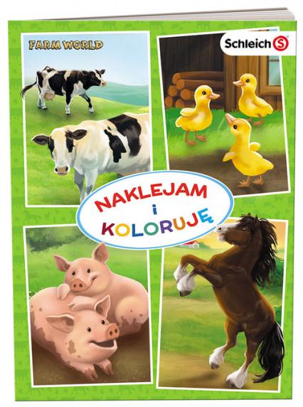 SCHLEICH Farm World Naklejam i koloruję NAK-8301 -  | okładka