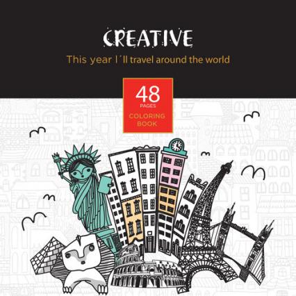 Książeczka do kolorowania dla dorosłych Creative -  | okładka
