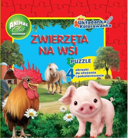 Animal Club Układanka Kolorowanka Zwierzęta na wsi -  | okładka
