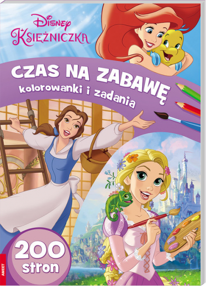 Disney Księżniczka Czas na zabawę Kolorowanki i zadania - zbiorowe opracowanie   okładka