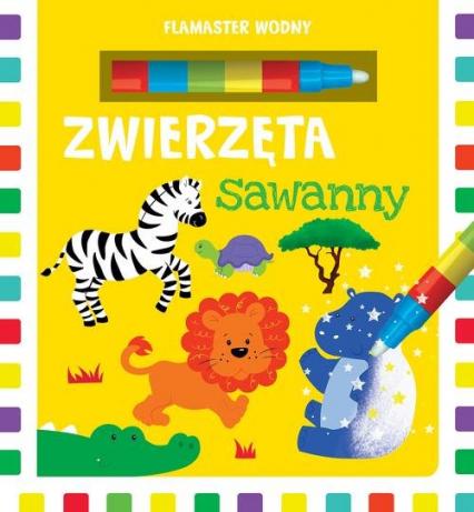 Flamaster wodny Zwierzęta sawanny - Urszula Kozłowska | okładka