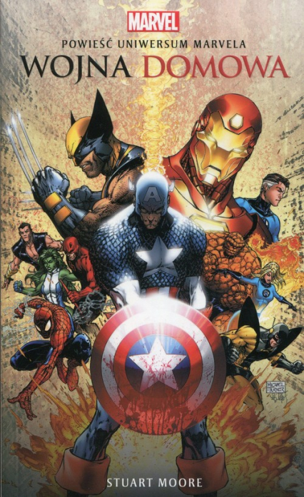 Marvel Wojna domowa - Stuart Moore | okładka