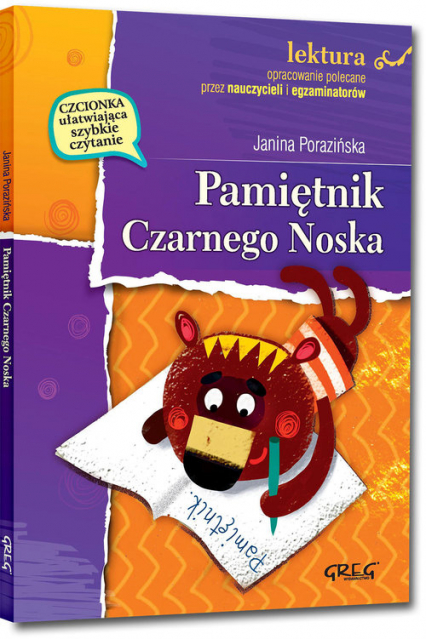 Pamiętnik Czarnego Noska z opracowaniem - Janina Porazińska | okładka