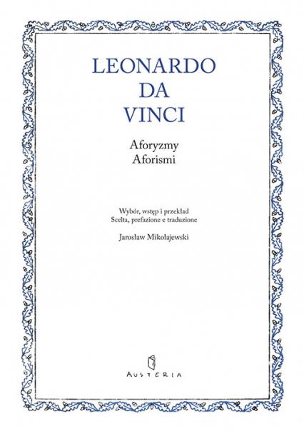 Aforyzmy. Aforismi - Da Vinci Leonardo   okładka