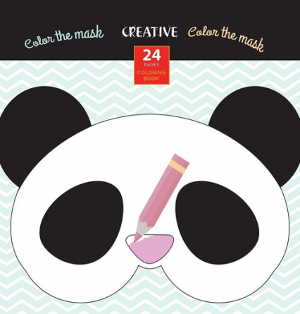 Książeczka do kolorowania Creative Maski Zwierząt -  | okładka
