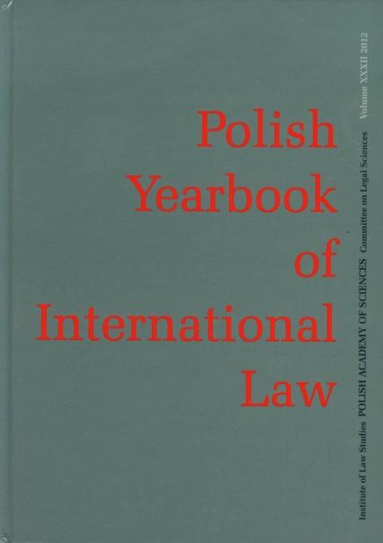 Polish Yearbook of International Law -    okładka