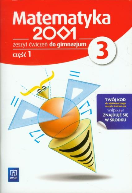 Matematyka 2001 3 Zeszyt ćwiczeń część 1 gimnazjum - zbiorowa Praca | okładka
