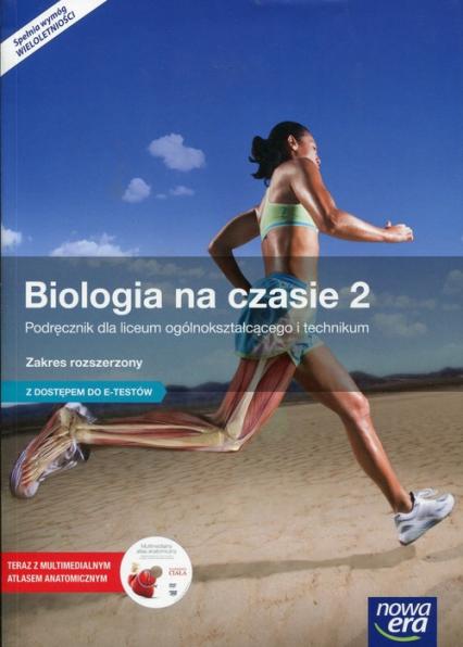 Biologia na czasie 2 Podręcznik wieloletni z płytą DVD Zakres rozszerzony z dostępem do e-testów -  | okładka