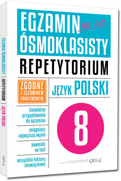 Egzamin ósmoklasisty Język polski Repetytorium -  | okładka