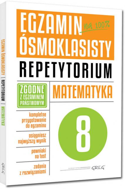 Egzamin ósmoklasisty Matematyka Repetytorium - Andrzejczak Marlena, Butowska Lucyna, Kiełczykowska Grażyna   okładka