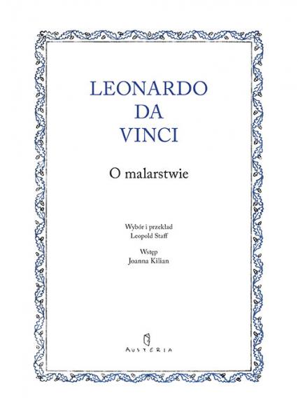 O malarstwie - Leonardo Da Vinci   okładka