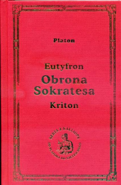 Obrona Sokratesa - Platon   okładka