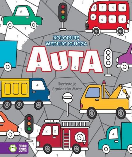 Koloruję według klucza Auta - zbiorowa praca | okładka