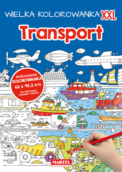 Wielka kolorowanka XXL - Transport - zbiorowa praca | okładka