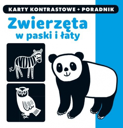 Kapitan Nauka Zwierzęta w paski i łaty Karty kontrastowe + poradnik -  | okładka