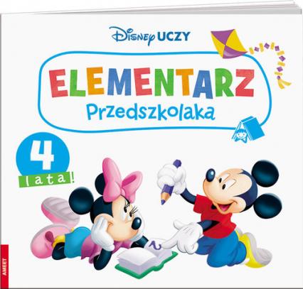 Disney Uczy Miki Elementarz przedszkolaka 4 lata -    okładka