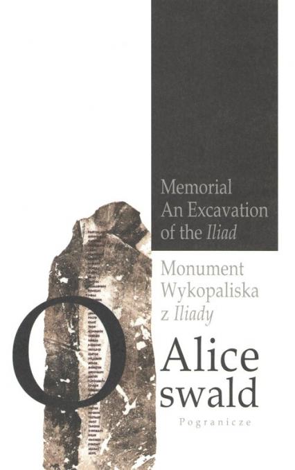 Monument Wykopaliska z Iliady - Alice Oswald   okładka