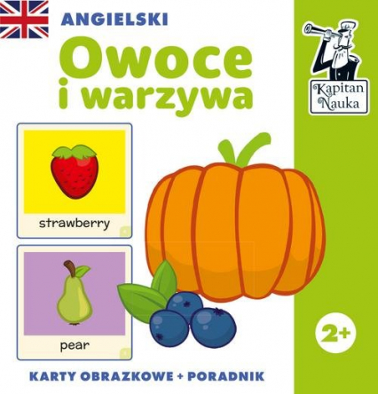 Angielski Owoce i warzywa (karty obrazkowe + poradnik) - zbiorowa praca | okładka