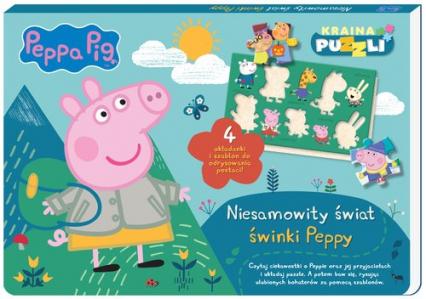 Peppa Pig Kraina puzzli Niesamowity świat świnki Peppy - zbiorowe opracowanie | okładka