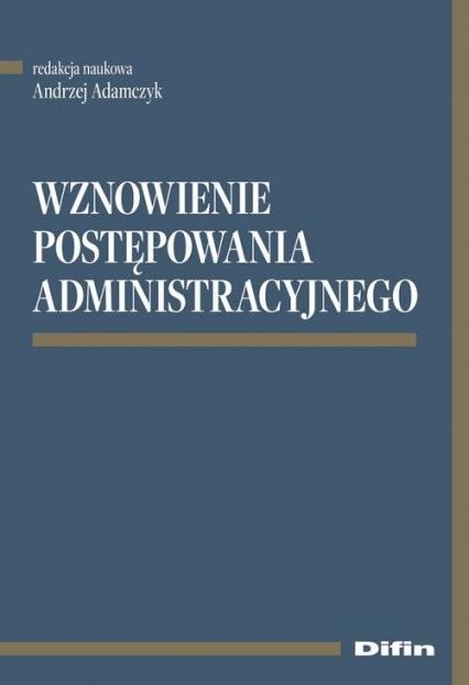 Wznowienie postępowania administracyjnego -    okładka