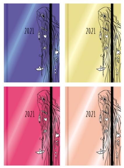 Terminarz wyjątkowej dziewczyny 2021 mix kolorów -    okładka