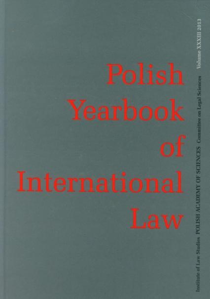 Polish Yearbook of International Law Tom XXXIII -  | okładka