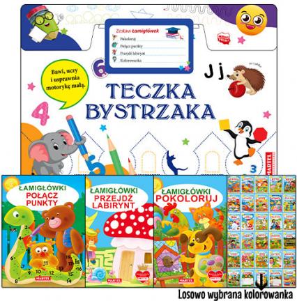 Teczka bystrzaka Zestaw Łamigłówek - zbiorowa praca   okładka