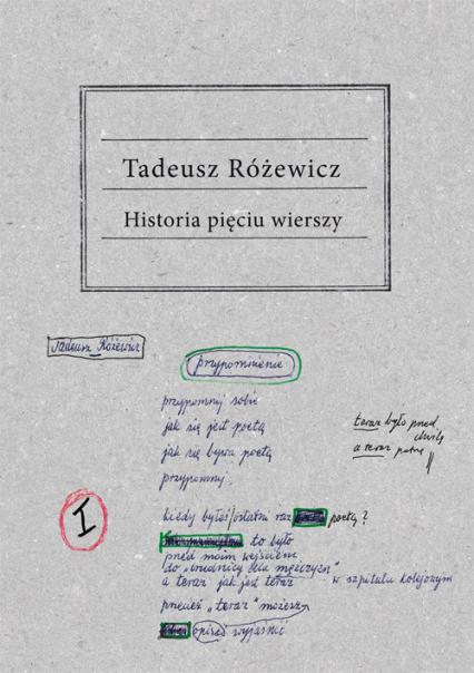 Historia pięciu wierszy - Tadeusz Różewicz | okładka